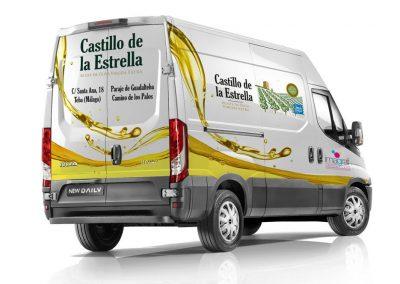 Rotulación de furgoneta comercial de Castillo de la Estrella