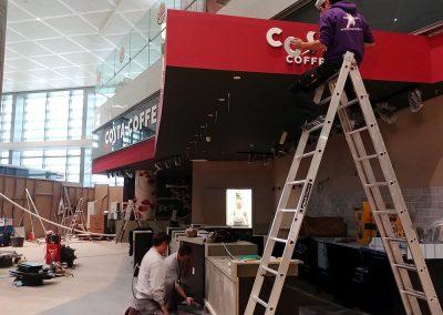 Trabajos para Costa Coffee en el Aeropuerto de Málaga