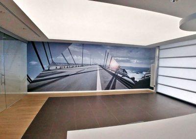 Fotografías de gran formato en concesionario de Audi