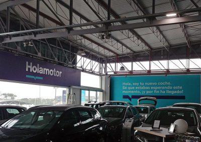 Rótulos, corpóreos con iluminación y vinilos para Holamotor