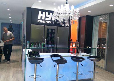 Vinilado oficinas de Hype Energy Drinks en Puerto Banús