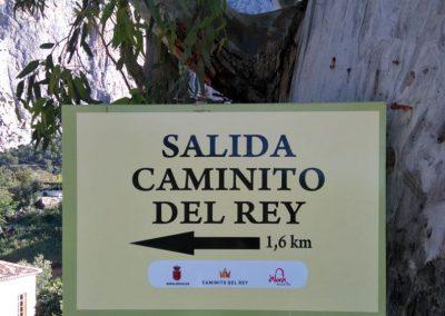 Señalización en Barriada El Chorro – Caminito Del Rey