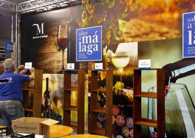Murales para stand de Sabor a Málaga en la Feria Nacional del Vino