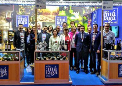 Murales y rótulos para el stand de Sabor a Málaga en la Feria Nacional del Vino