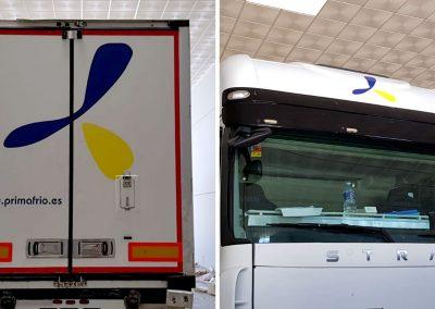 Vinilado de camión de Primafrío