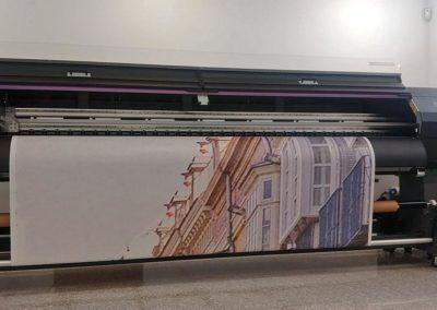 Lona de 20x15 m de Verosa para el edificio La Equitativa de Málaga