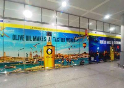 Publicidad de Aceite de Oliva en el Aeropuerto de Málaga