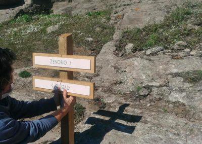 Diseño y producción de la señalización de los restos arqueológicos de Castillejos de Quintana de Pizarra